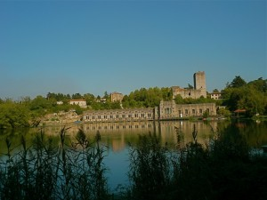 Castello di trezzo con diga