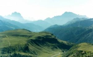Gruppo del Sella - Vista verso la Val Badia