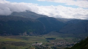 Ovindoli tra le montagne e le nuvole