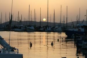 tramonto sul porto di Alghero