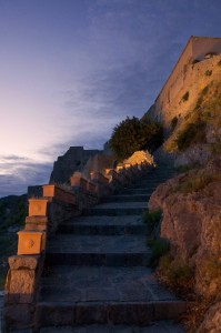 Castello Arechi al crepuscolo