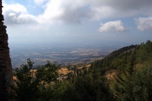 La piana di Cerchiara vista dal santuario Madonna delle armi