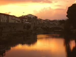 Il Bisenzio al tramonto