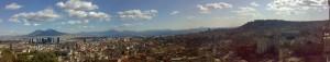Panorama di Napoli dal Vesuvio a Castel Sant'Elmo