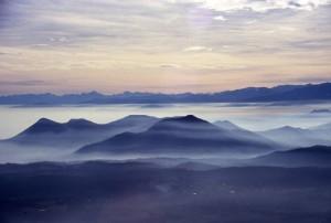 panorama di Caselette e bassa Val di Susa dal Musinè
