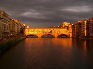 Vista di Firenze verso il Ponte Vecchio