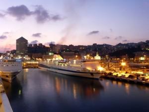 Crepuscolo dal porto