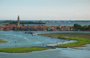 la laguna di Venezia dal campanile di Torcello