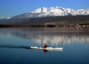 Lago di Viverone, paese di Viverone, la Serra