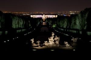 Le luci di Caserta e della sua magnifica Reggia