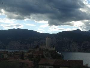 turbini e tempeste sul castello scaligero