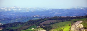 Veduta panoramica da Smerillo