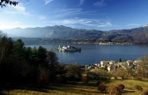Sacro Monte, vista dell'Isola San Giulio
