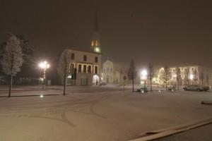 Breganze la piazza Mazzini con neve