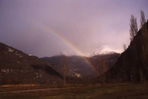 arcobaleno nella vallata di Novalesa