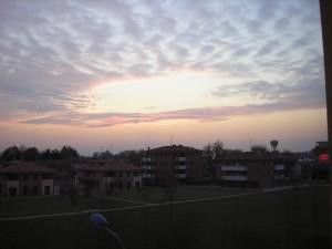 correggio al tramonto