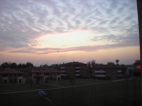 Correggio - correggio al tramonto