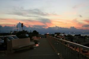 Vista dall'aeroporto di Palermo