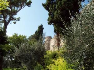 Ogni verde intorno al castello di Moniga