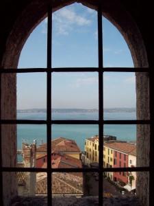 Vista medievale di Sirmione