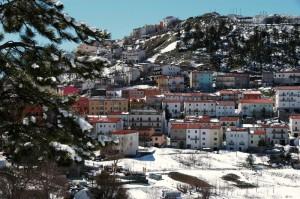veduta panoramica sotto la neve