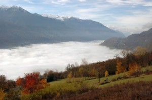 Valtellina nella nebbia