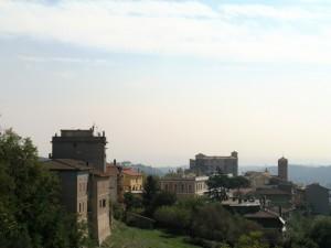 Castelnuovo di Porto panorama con il castello