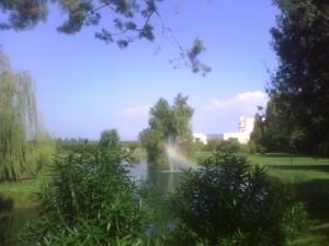 arcobaleno sul lago