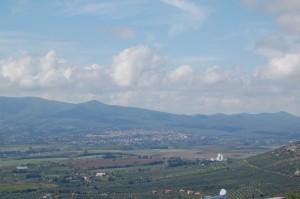 Panorama di Lariano, città della sagre del fungo Porcino