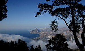 Scorcio Monte Cofano vista da Erice