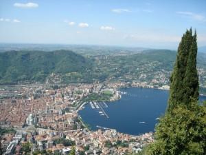 Città di Como (da Brunate)