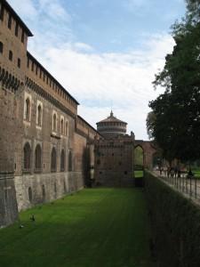 Castello Sforzesco, domenica pomeriggio.
