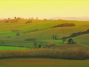Vista dalle colline senesi