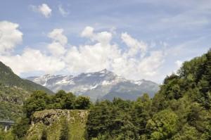 Monte Rocciamelone, visto da Chiomonte (TO)