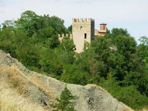 Monteveglio il castello visto dall'Africa