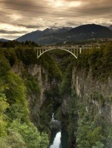 Tassullo visto dalla diga di Santa Giustina