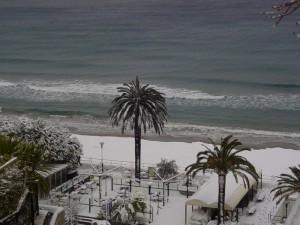 la neve, il mare, e le palme