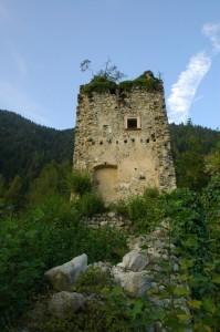 La torre di Castel Alto a Telve Valsugana