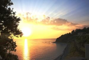 Quando il sole si tuffa nel mare