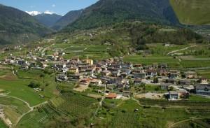 Panoramica del paesino di Spera Valsugana