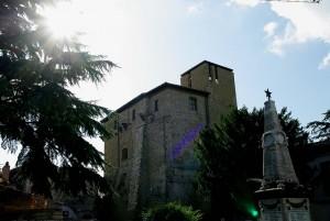 Contro sole la Rocca di Celere