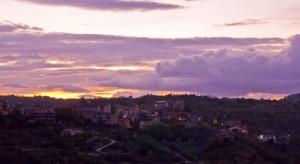 Il tramonto su Nysura