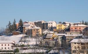 villa con la neve