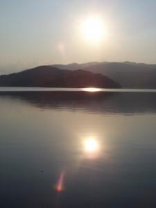 tramonti perfettamente riflettenti