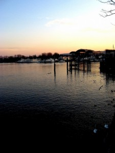 stresa :tramonto sul lago