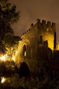 Ponte Nomentano alle luci della notte
