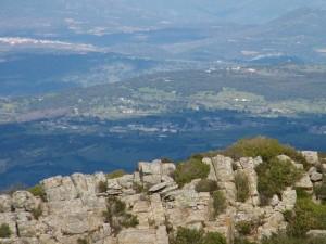 Panorama su Allai dal Monte Grighine
