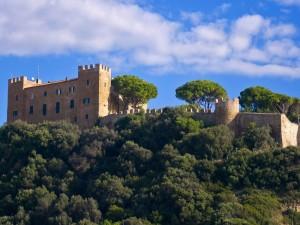 Il castello sopra il vecchio borgo