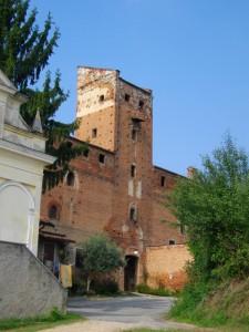 particolare della torre del Castello Mosetti