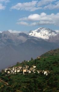 Il paese di Bema in Val Gerola